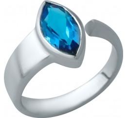 Серебряное кольцо SilverBreeze с аквамарином nano (1934050) 17 размер
