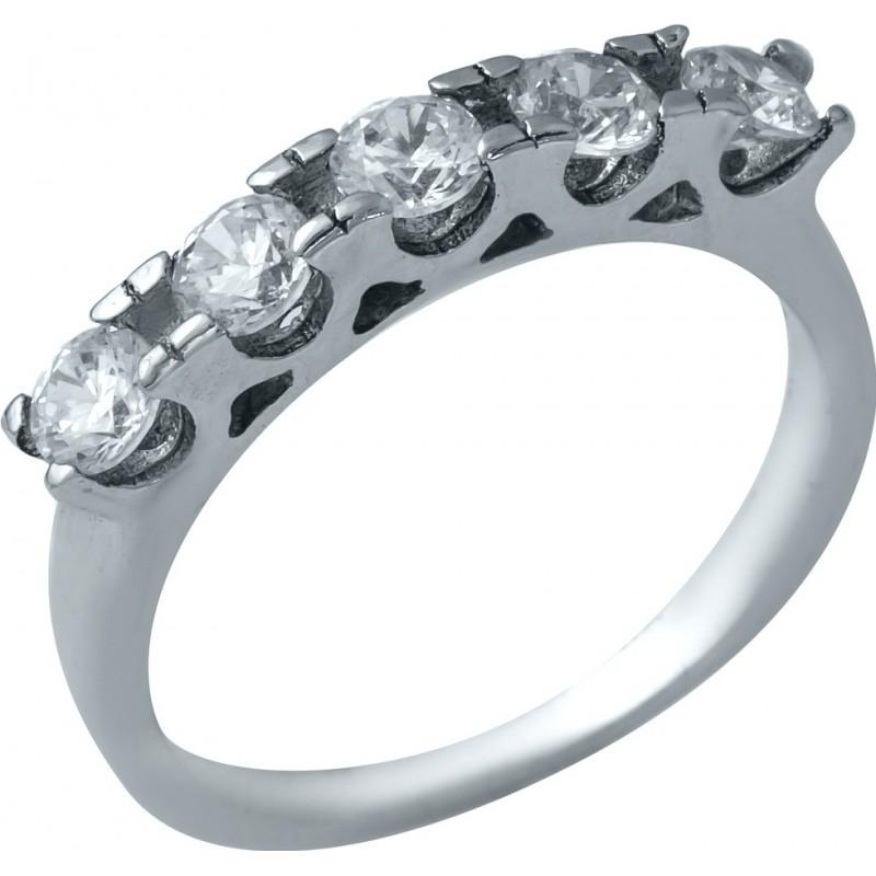 Серебряное кольцо SilverBreeze с фианитами (1936917) 17 размер