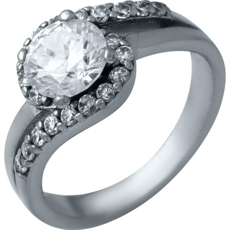Серебряное кольцо SilverBreeze с фианитами (1936924) 15.5 размер