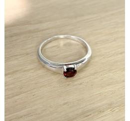 Серебряное кольцо SilverBreeze с натуральным гранатом (1937389) 18.5 размер