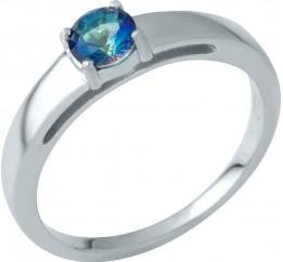 Серебряное кольцо SilverBreeze с натуральным мистик топазом (1937457) 18 размер