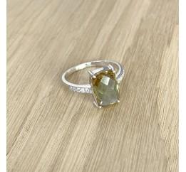 Серебряное кольцо SilverBreeze с Султанит султанитом (1937600) 18.5 размер
