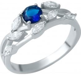 Серебряное кольцо SilverBreeze с сапфиром nano (1937747) 18 размер