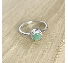 Серебряное кольцо SilverBreeze с натуральным изумрудом (1937945) 18 размер