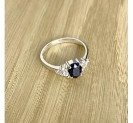 Серебряное кольцо SilverLine с натуральным сапфиром (1938263) 18 размер