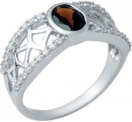 Серебряное кольцо SilverBreeze с натуральным гранатом (1940716) 18.5 размер