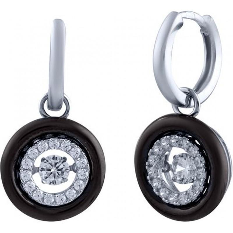 Серебряные серьги SilverBreeze с керамикой (0666983)