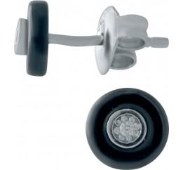 Серебряные серьги SilverBreeze с керамикой (1154649)