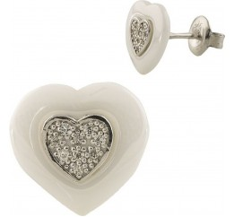 Серебряные серьги SilverBreeze с керамикой (1220566)