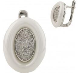 Серебряные серьги SilverBreeze с , керамикой (1220856)