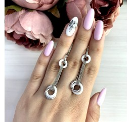 Серебряные серьги SilverBreeze с керамикой (1221051)