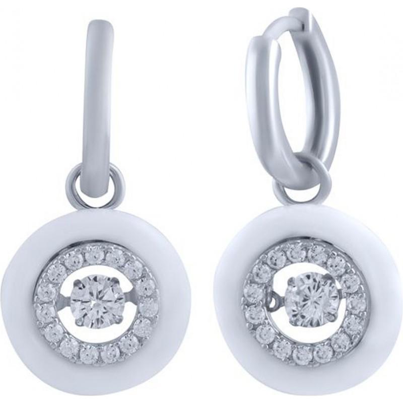 Серебряные серьги SilverBreeze с керамикой (1325926)