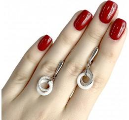 Серебряные серьги SilverLine с керамикой (1329672)