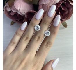 Серебряные серьги SilverBreeze с керамикой (1329726)