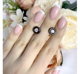 Серебряные серьги SilverBreeze с керамикой (1329825)