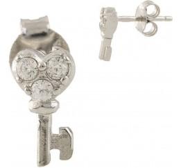 Серебряные серьги SilverBreeze с фианитами (1338803)