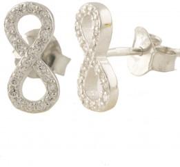 Серебряные серьги SilverBreeze с фианитами (1397040)