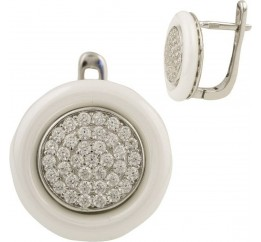 Серебряные серьги SilverBreeze с керамикой (1429860)
