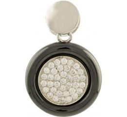 Серебряная подвеска SilverBreeze с , керамикой (1154403)