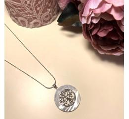 Серебряная подвеска SilverBreeze с емаллю, фианитами (1999684)