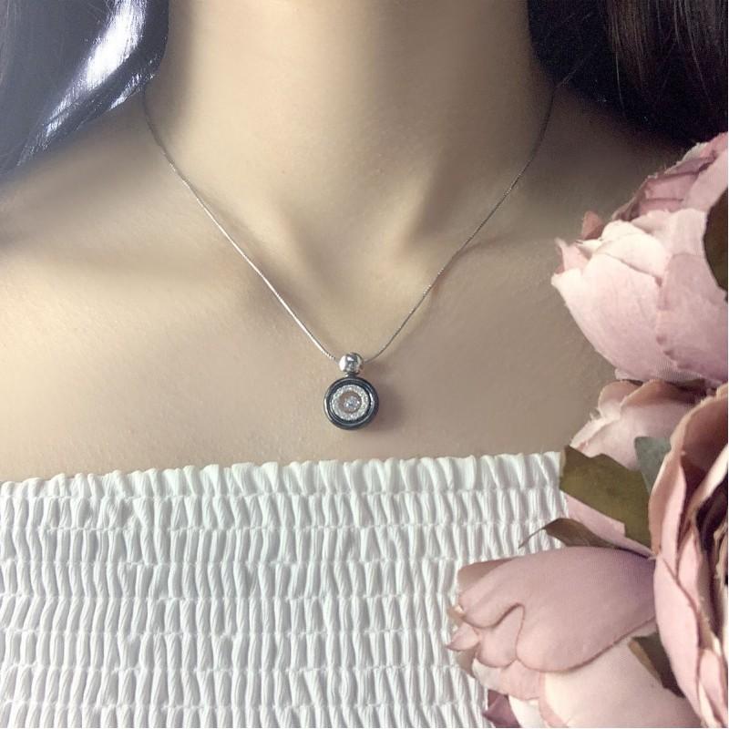 Серебряная подвеска SilverBreeze с керамикой (1324776)