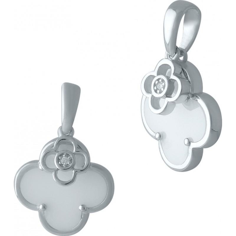 Серебряная подвеска SilverBreeze с керамикой (2001461)