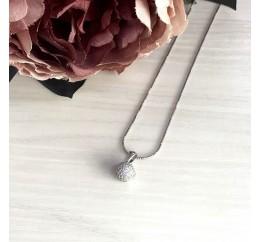 Серебряная подвеска SilverBreeze с фианитами (1205365)