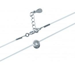 Серебряная подвеска SilverBreeze с фианитами (1893104) 380 размер