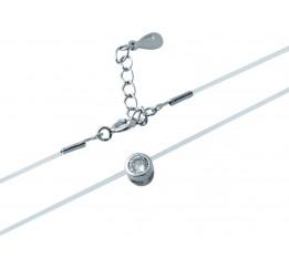 Серебряная подвеска SilverBreeze с фианитами (1931097) 360400 размер