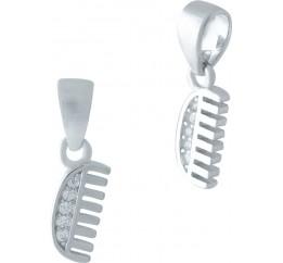Серебряная подвеска SilverBreeze с фианитами (1974926)