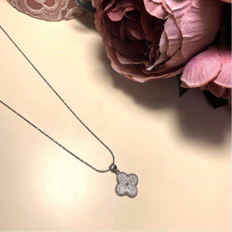 Серебряная подвеска SilverBreeze с фианитами (2000150)