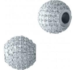 Серебряная подвеска SilverBreeze с фианитами (2001577)
