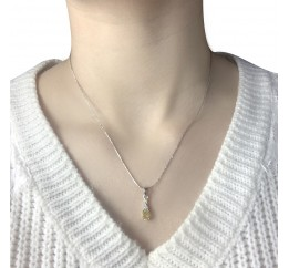 Серебряная подвеска SilverBreeze с цитрином nano (1959145)