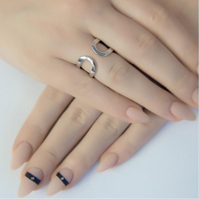 Серебряное кольцо SilverBreeze без камней (1941102) 17.5 размер