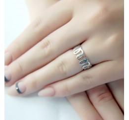 Серебряное кольцо SilverBreeze без камней (1952368) 16 размер