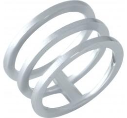 Серебряное кольцо SilverBreeze без камней (1957271) 18 размер