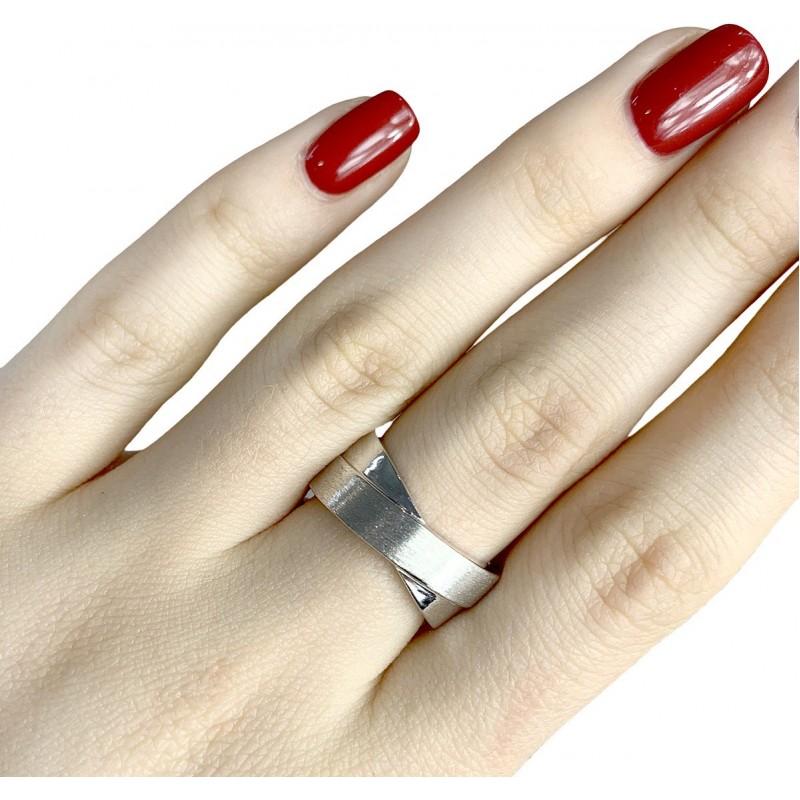 Серебряное кольцо SilverBreeze без камней (1957288) 16.5 размер