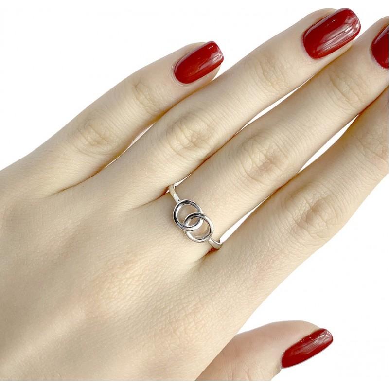 Серебряное кольцо SilverBreeze без камней (1977859) 17 размер