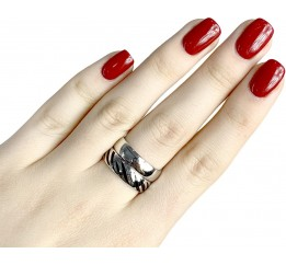 Серебряное кольцо SilverBreeze без камней (1982457) 17 размер
