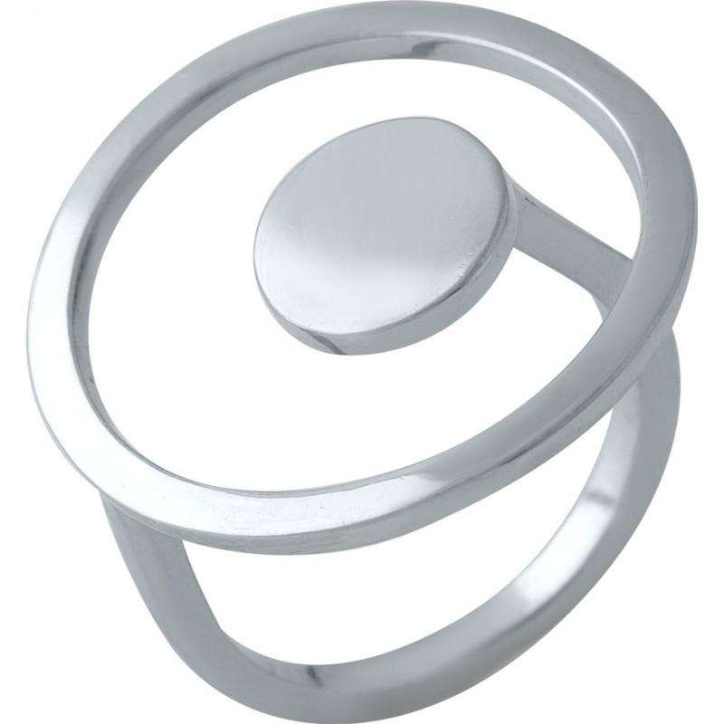Серебряное кольцо SilverBreeze без камней (1998380) 18 размер