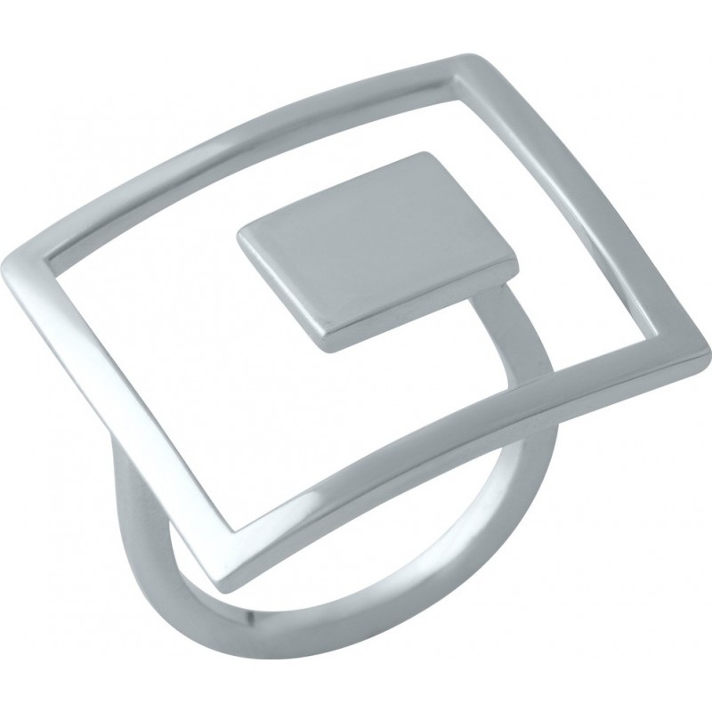 Серебряное кольцо SilverBreeze без камней (1998427) 18 размер