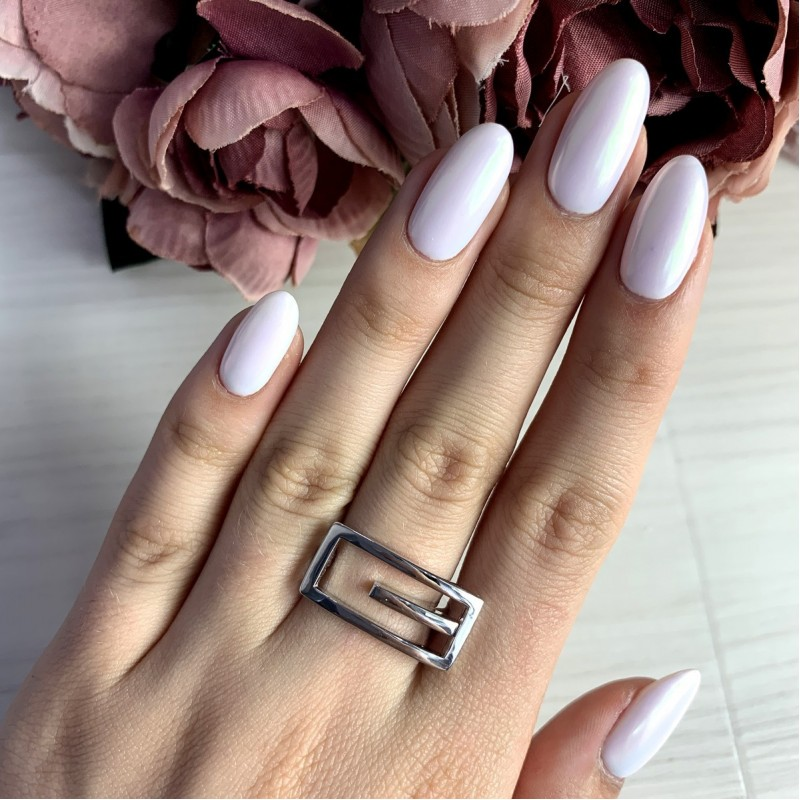 Серебряное кольцо SilverBreeze без камней (1998458) 17 размер
