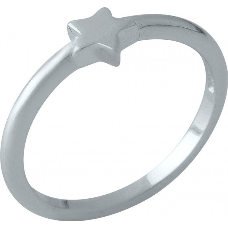 Серебряное кольцо SilverBreeze без камней (2002116) 17 размер