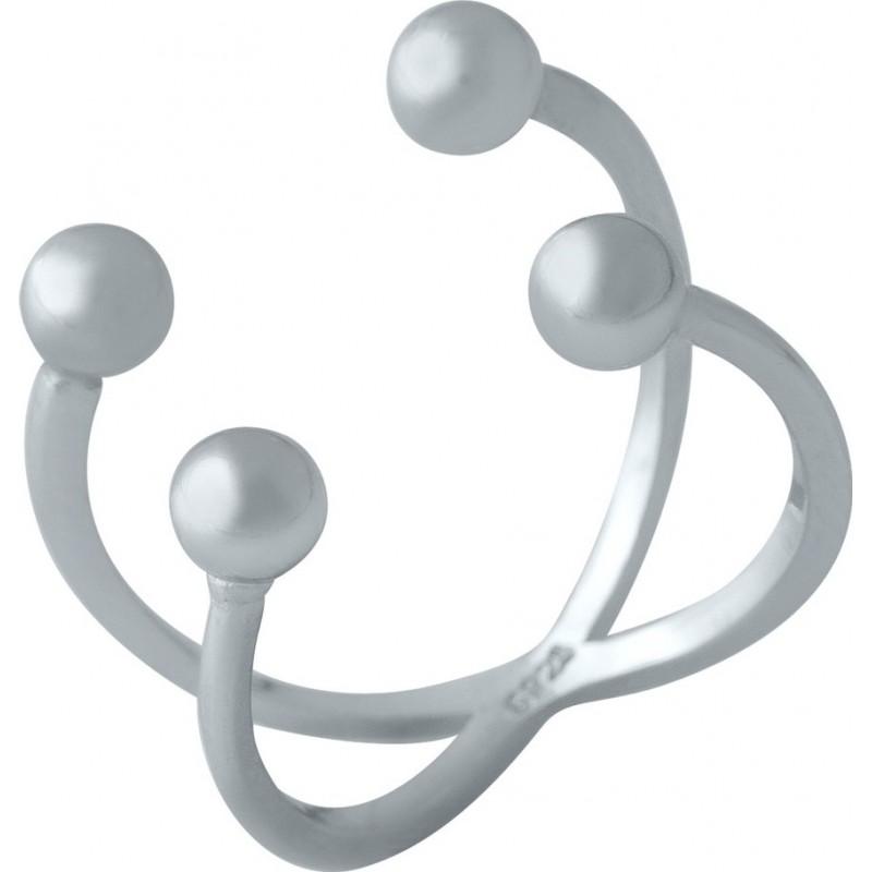 Серебряное кольцо SilverBreeze без камней (2002147) Регулируемый размер
