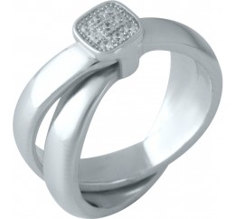 Серебряное кольцо SilverBreeze с  (1957264) 17 размер