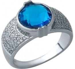Серебряное кольцо SilverBreeze с аквамарином nano (1934135) 17.5 размер
