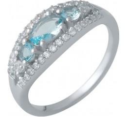 Серебряное кольцо SilverBreeze с аквамарином nano (1988435) 18.5 размер