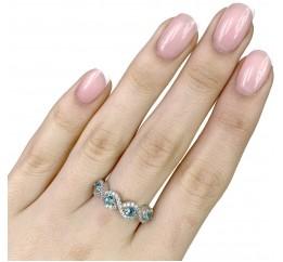 Серебряное кольцо SilverBreeze с аквамарином nano (1988732) 17.5 размер