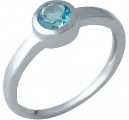 Серебряное кольцо SilverBreeze с аквамарином nano (1988787) 18 размер