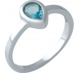 Серебряное кольцо SilverBreeze с аквамарином nano (1997314) 18 размер